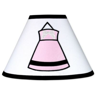 Sweet Jojo Designs Princess Lamp Shade in Black/White/Pink