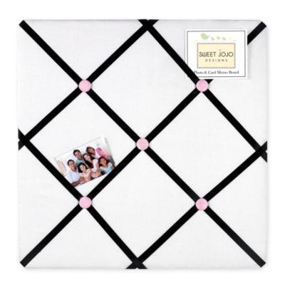 Sweet Jojo Designs Princess Fabric Memo Board in Black/White/Pink