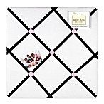 Sweet Jojo Designs Princess Fabric Memo Board in Black/White/Pink