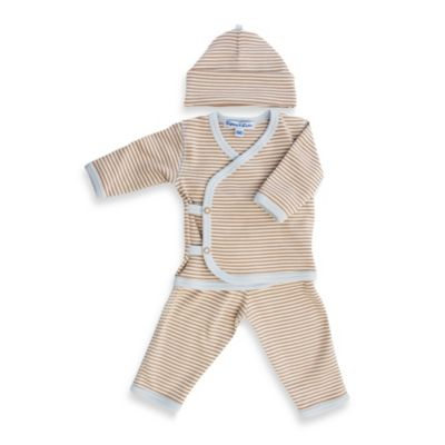 Sippy's Babes 3-Piece Take Me Home Set in Cream/Tan with Blue Stripe