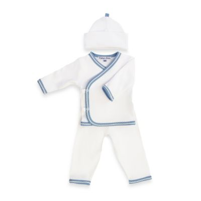 Sippy's Babes 3-Piece Take Me Home Set in White/Blue with Blue Chevron Trim