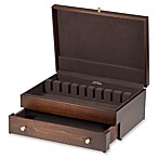 Reed & Barton®  Mahogany Finish Flatware Chest with Drawer