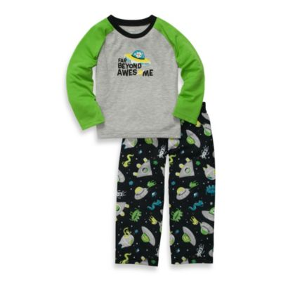 Carter's® Alien 2-Piece Long-Sleeve Jersey Pajamas in Green