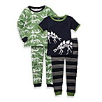 Carter's® Size Extinct Dinos 4-Piece Long-Sleeve Pajama Set in Green