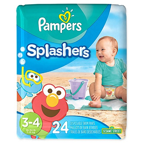 Pampers® Splashers 24-Count Size 3-4 Disposable Swim Pants ...