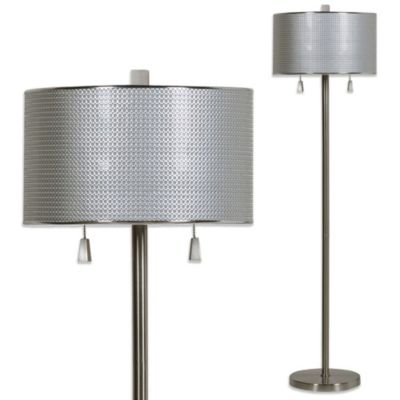 Circles Floor Lamp in Brushed Steel