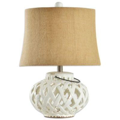 Coventry Summer Lattice Ceramic Open Work Table Lamp