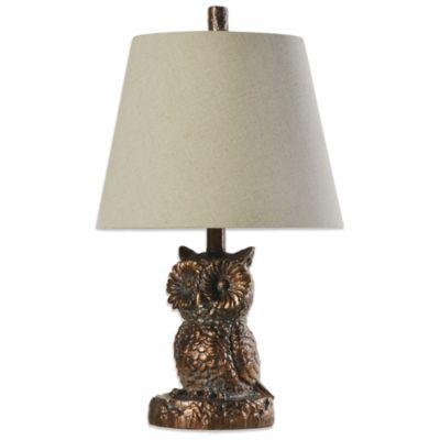 Coventry Briarwood Owl Table Lamp in Bronze
