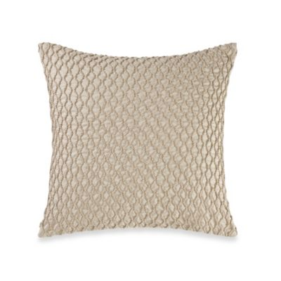 Real Simple® Linear Patchwork 14-Inch Square Toss Pillow in Stone
