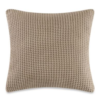 Real Simple® Linear Patchwork 18-Inch Square Toss Pillow in Stone