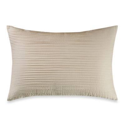 Real Simple® Linear Patchwork Oblong Breakfast Pillow in Stone