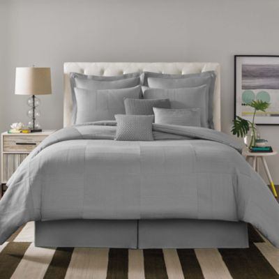 Real Simple® Linear Patchwork European Pillow Sham in Grey