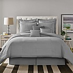 Real Simple® Linear Patchwork Comforter Set in Grey