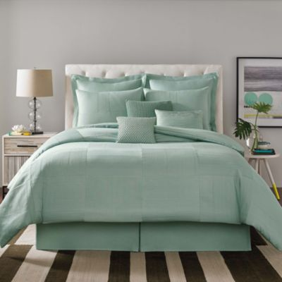 Real Simple® Linear Patchwork European Pillow Sham in Aqua