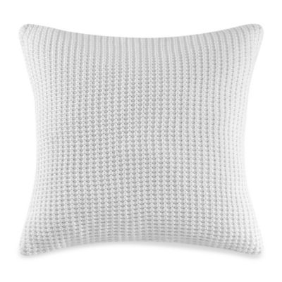 Real Simple® Linear Patchwork 18-Inch Square Throw Pillow in White