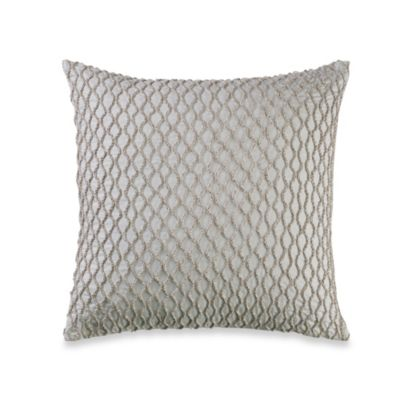 Real Simple® Linear Patchwork 14-Inch Square Throw Pillow in White