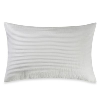 Real Simple® Linear Patchwork Oblong Breakfast Pillow in White