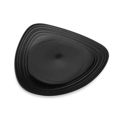 Mikasa® Swirl 12-Inch Triangle Dinner Plate in Black