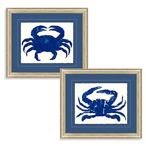 blue crab framed wall art bed bath beyond. Black Bedroom Furniture Sets. Home Design Ideas
