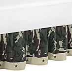 Sweet Jojo Designs Camo Toddler Bed Skirt in Green
