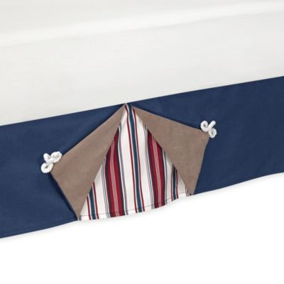 Sweet Jojo Designs Nautical Nights Toddler Bed Skirt