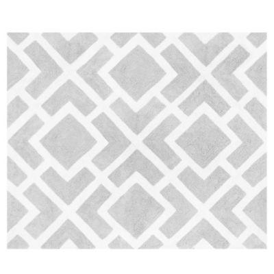 Sweet Jojo Designs Diamond Floor Rug in Grey/White