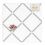 Sweet Jojo Designs Diamond Memo Board in Grey/White