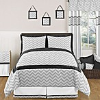 Sweet Jojo Designs Zig Zag Comforter Set in Grey/Black