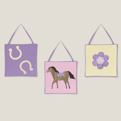 Sweet Jojo Designs Pretty Pony 3-Piece Wall Hanging Set