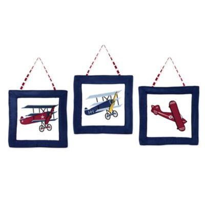 Sweet Jojo Designs Vintage Aviator 3-Piece Wall Hanging Set