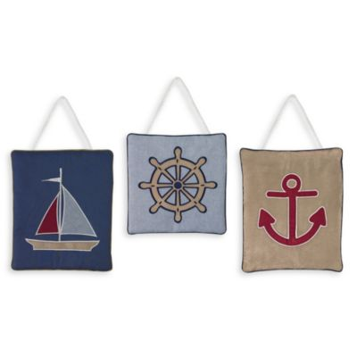 Sweet Jojo Designs Nautical Nights 3-Piece Wall Hanging Set
