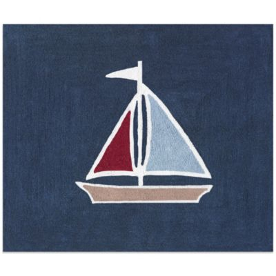 Sweet Jojo Designs Nautical Nights 36-Inch x 30-Inch Accent Rug
