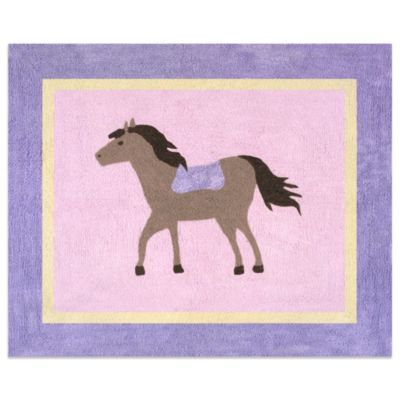Sweet Jojo Designs Pretty Pony Floor Rug in Pink
