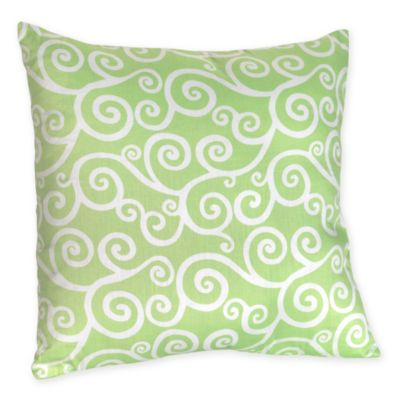 Sweet Jojo Designs Olivia Throw Pillow in Green Scroll Print