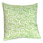 Sweet Jojo Designs Olivia Toss Pillow in Green Scroll Print