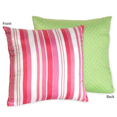 Sweet Jojo Designs Olivia Reversible Throw Pillow in Striped Print