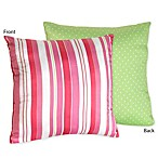 Sweet Jojo Designs Olivia Reversible Toss Pillow in Striped Print