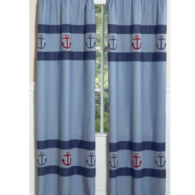 Sweet Jojo Designs Nautical Nights Window Panel (Set of 2)