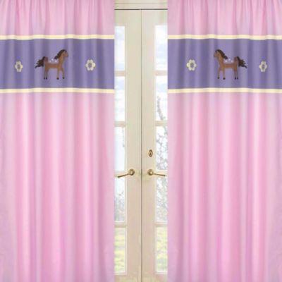 Sweet Jojo Designs Pretty Pony Window Panel Pair