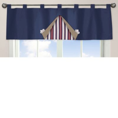 Sweet Jojo Designs Nautical Nights Window Valance