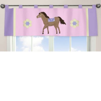 Sweet Jojo Designs Pretty Pony Window Valance