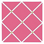 Sweet Jojo Designs Pink and Green Flower Fabric Memo Board