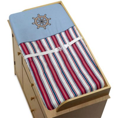 Sweet Jojo Designs Nautical Nights Changing Pad Cover