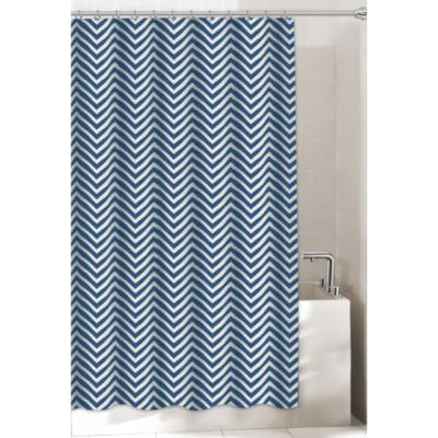 Chevron 72-Inch x 72-Inch Shower Curtain in Navy
