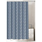 Chevron Navy 72-Inch x 72-Inch Shower Curtain