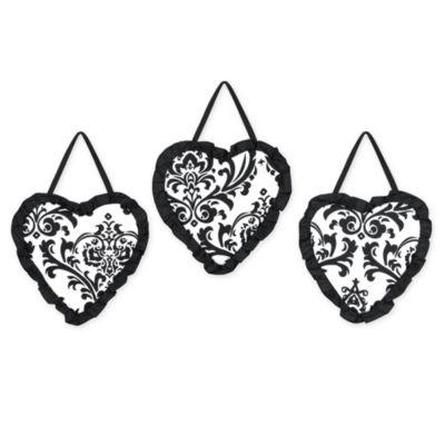 Sweet Jojo Designs Isabella 3-Piece Wall Hanging Set in Black/White