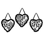 Sweet Jojo Designs Isabella Wall Hangings in Black/White
