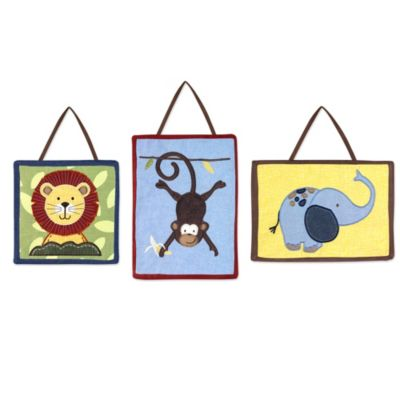 Sweet Jojo Designs Jungle Time Wall Hangings
