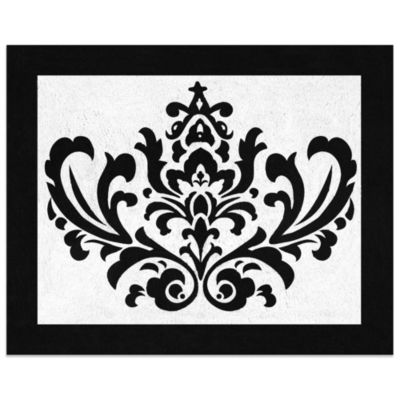 Isabella Floor Rug in Black/White