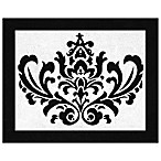 Sweet Jojo Designs Isabella Floor Rug in Black/White